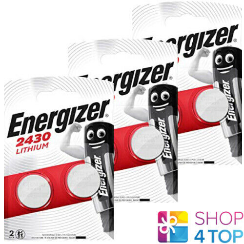 6 Energizer cr2430 Lithium Batteries 3v Coin Cell dl2430 ecr2430 Exp 2025 NEW