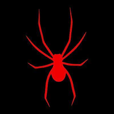 Spider decals sticker 14 x 8.75 inch Red vinyl