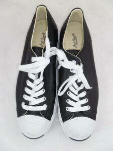 d2492ee856be CONVERSE MEN -11 WOMEN-12.5 USED JACK PURCELL BLACK LEATHER OX ...