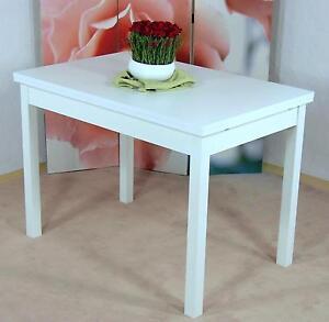 auszugtisch wei esstisch esszimmertisch tisch k chentisch esszimmer ausziehbar ebay. Black Bedroom Furniture Sets. Home Design Ideas