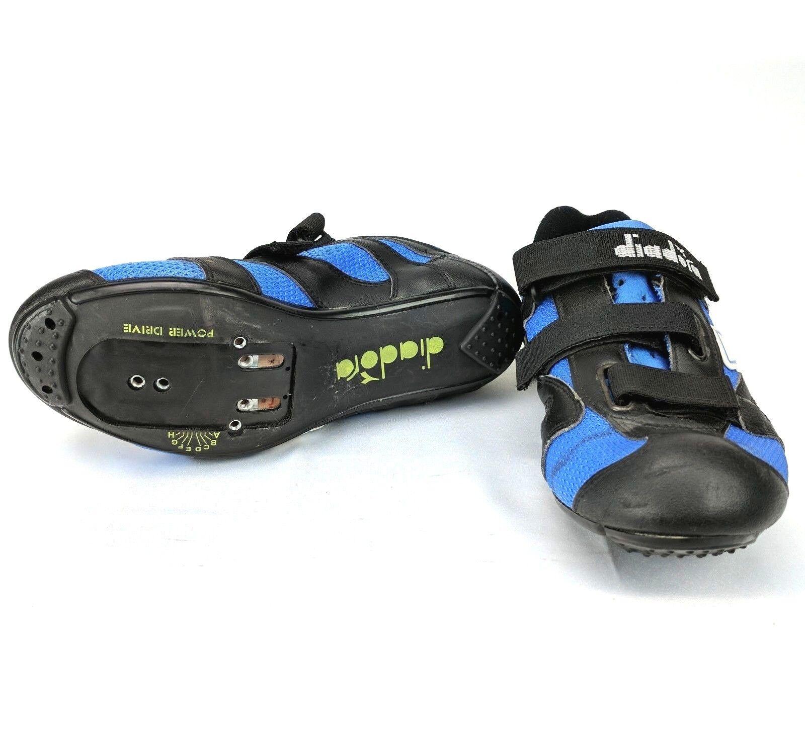 Unidad de alimentación  de colección Diadora Azul Ciclismo Zapatos Talla EU 38.5 para Mujer Hombre usado en excelente estado  Ven a elegir tu propio estilo deportivo.