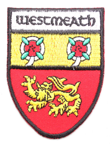 Irish Westmeath Crest Shield Embroidered Iron//Sew-on Cloth Badge Patch Appliqué