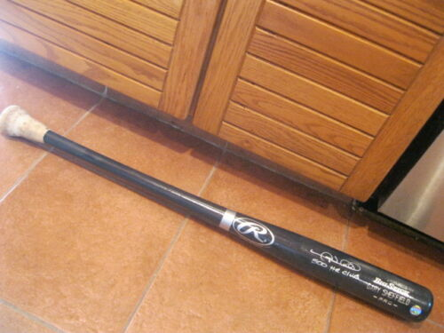 Gary Sheffield Rawlings Autographed Baseball Bat Game Used