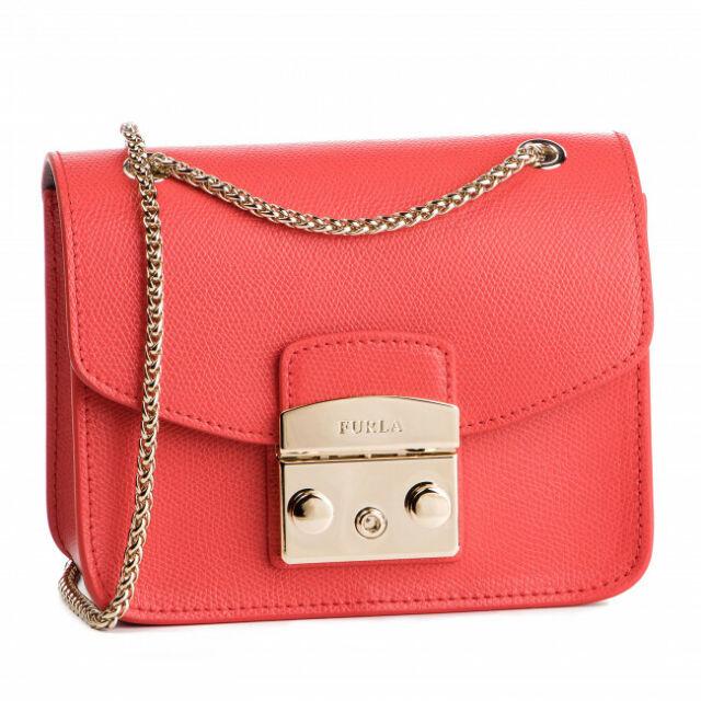 Furla Metropolis Round Mini White Crossbody Bag in Pink - Lyst