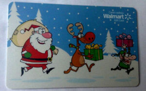 WALMART-Limited-Edition-holiday-Gift-Card-fd-42492-New-No-Value-BILINGUAL