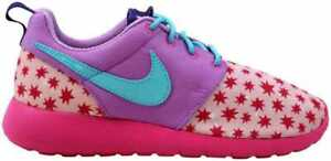 Details about Nike Roshe One Print Prism PinkBlue Fuchsia 677784 604 Grade School Size 5.5
