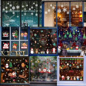 Ebay Weihnachtsdeko.Details Zu Weihnachten Fensterbild Sticker Wandtattoo Weihnachtsmann Fenster Weihnachtsdeko