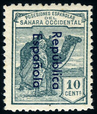 SAHARA 37 Ahcc ** DROMEDARIO SELLO DE 1924 HABILITADO COLOR CAMBIADO
