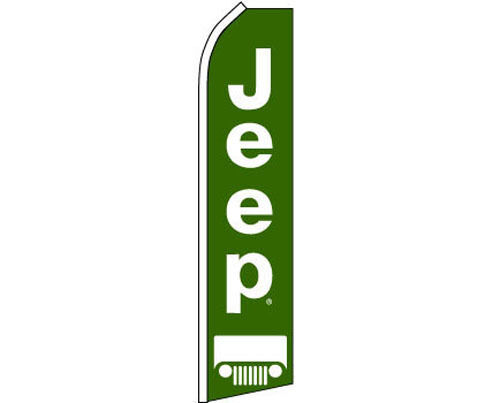 Jeep Advertising Feather Swooper Bow Flutter Banner Super Sign Flag