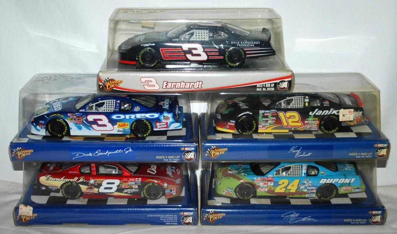 Lot Of 5 1 24  3  8  12  24 Nascar Hasbro Racecar Die Cast Model Racecar  98