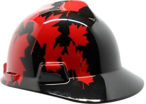 MSA-V-Guard-Hard-Hat-with-Canadian-Flag-in-Black-Red-and-Black-Hard-Hat