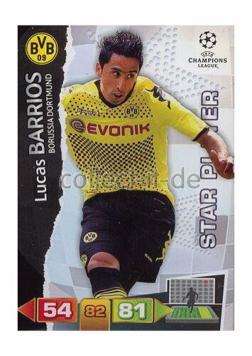 STAR PLAYER Lucas Barrios Panini Adrenalyn XL Champions League 11//12-79