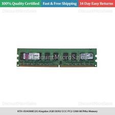 2X1GB PC2-5300 DDR2-667MHz non-ECC Unbuffered CL5 240Pin DIMM D-RK Kingston 2GB