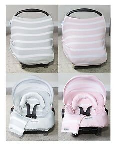 Image Is Loading WHOLE CABOODLE CarSeat Canopy 5pc Set STRIPES JERSEY