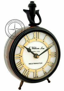 Westminster-Antique-Brass-Maritime-Table-Clock-Nautical-Office-Desk-Decor