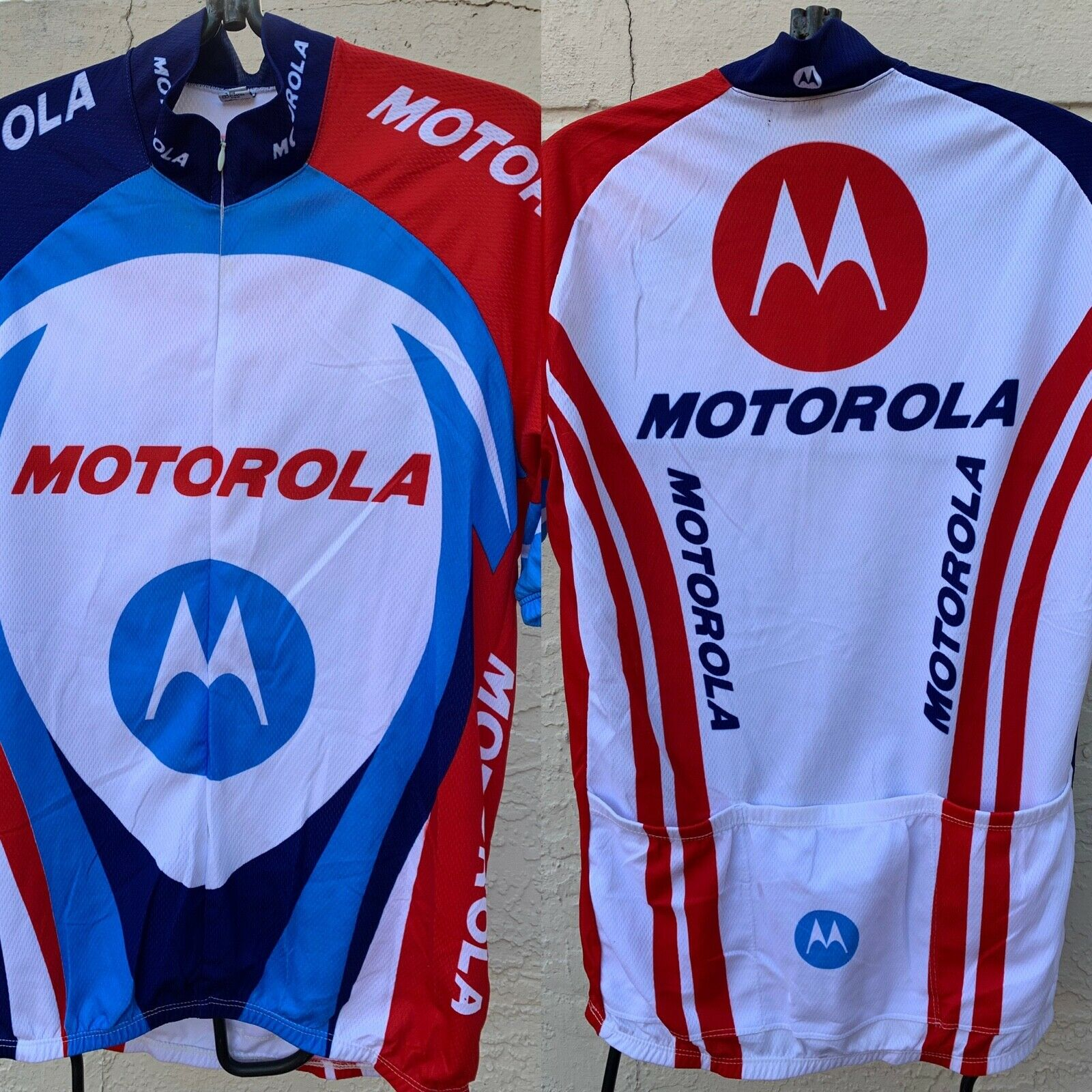 TEAM MOToroLA CYCLING MENS JERSEY SZ M