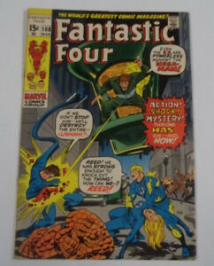 Fantastic Four #108 (1st Print) 7.0 FN/VF Signed by Joe Sinnott