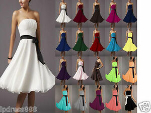 New-Bridesmaid-Wedding-Cocktail-Formal-Party-Prom-Ball-Evening-Chiffon-Dresses