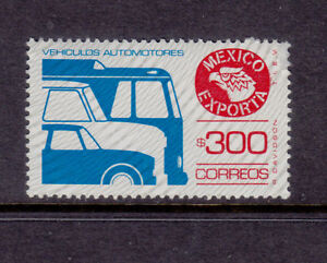 Mexico Exporta #1136 Vehicles florescent glossy Paper 5, unwmk. Mint NH vf.