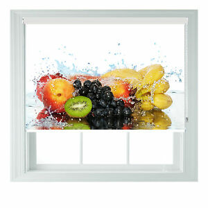 Image Is Loading Fruit Splash Yellow Red Printed Photo Black Out