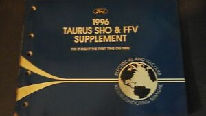 1996 Ford Taurus Sho Ffv Wiring Diagram Evtm Manual 96 Ebay