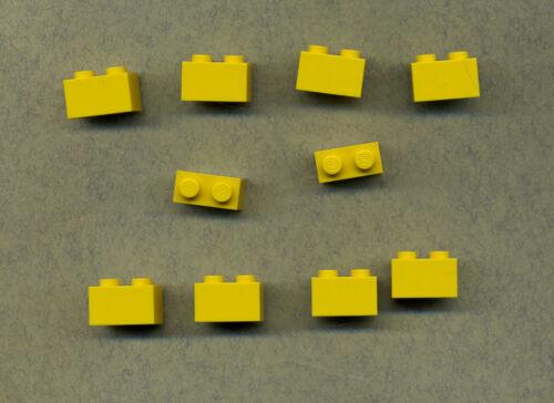 10 Stück Basic Gelb --- 1 x 2 Lego--3004