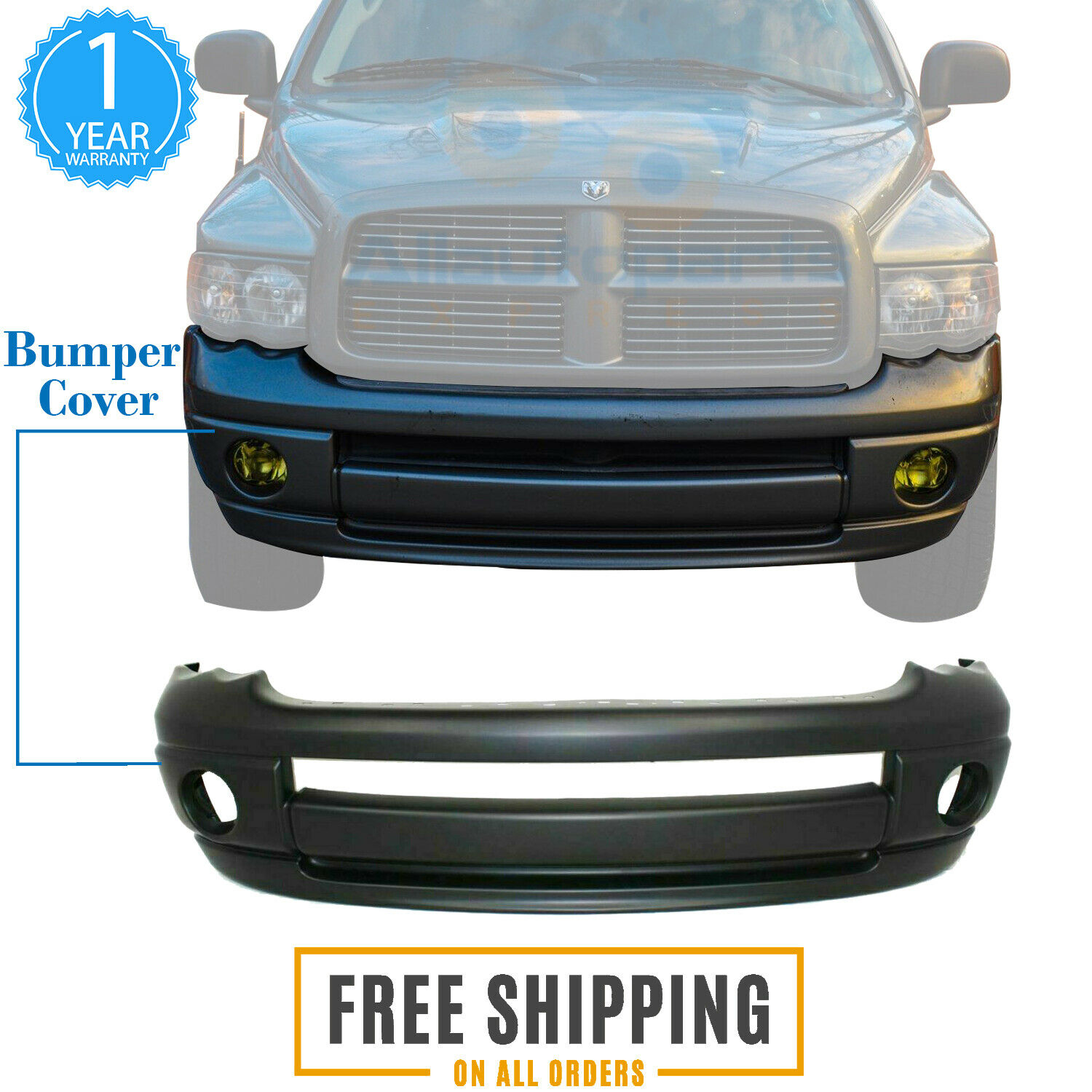 front bumper cover primed plastic for 2002 2005 dodge ram 1500 2500 3500 ebay details about front bumper cover primed plastic for 2002 2005 dodge ram 1500 2500 3500