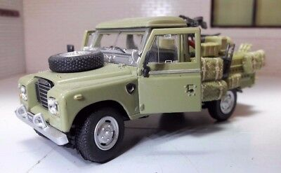1:43 Scale Model Land Rover Series 2a 3 LWB 109 Army Gunship Oxford Cararama