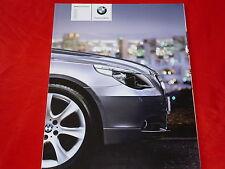 BMW 5er E60 Limousine 523i 525i 530i 545i 525d 530d 535d Prospekt von 2005