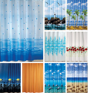 New Elegant Fabric Shower Curtain In Different Patterns