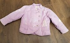 Girls Next Lilac military Coat/Jacket with Elephant hearts Motif  - Age 3/4 yrs