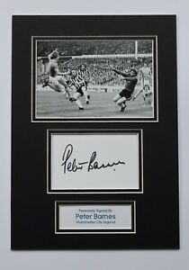 d9a2949e3a8 Image is loading PETER-BARNES-In-Manchester-City-Shirt-HAND-SIGNED-