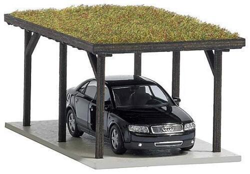1482 Busch h0 : preparate con tetto erba AUTO
