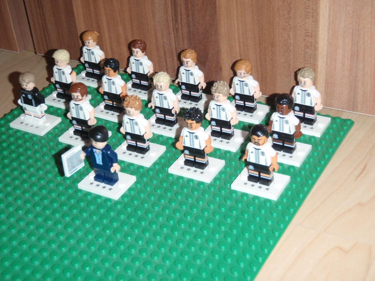Komplettset Lego Minifiguren FUSSBALL 2016 DFB DIE DIE DIE MANNSCHAFT  71014 a07a57