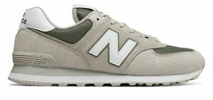 New-Balance-Men-039-s-574-Shoes-Grey-With-Green