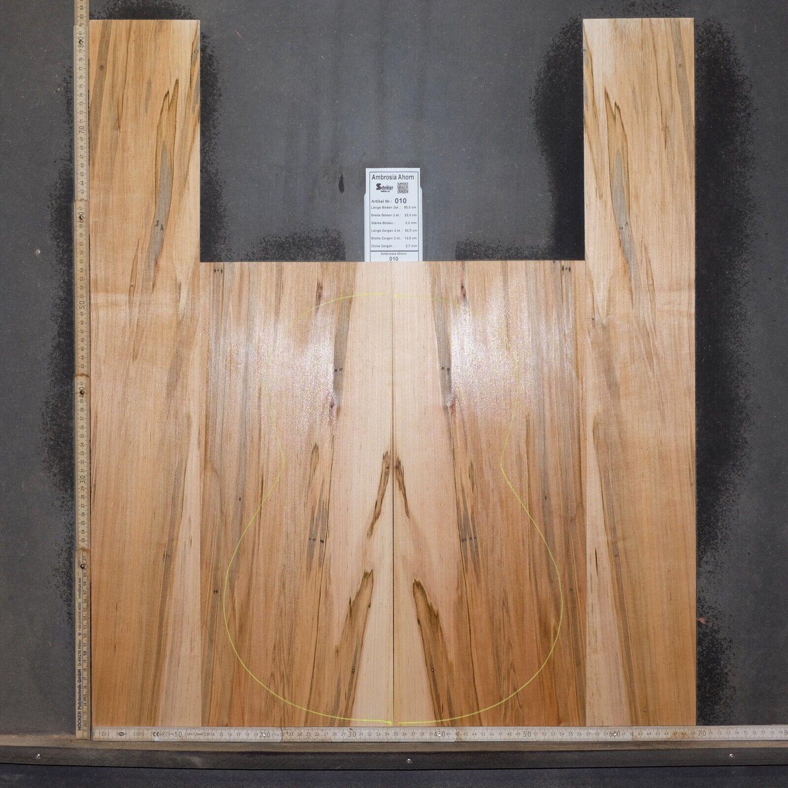 Tonewood Ambrosia Maple Maple Recruited as tone wood Guitar Acoustic backs && sides 010