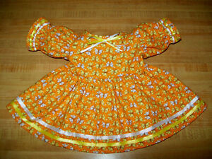 "HALLOWEEN SNOOPY GREAT PUMPKIN PATCH PEANUTS DRESS for 16-17/"" CPK Cabbage Patch"