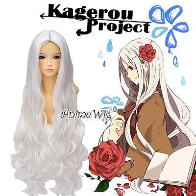 Kagerou Project Kozakura Shion 80cm Cosplay Manga Perücke Weiß Wig Gothic Locken