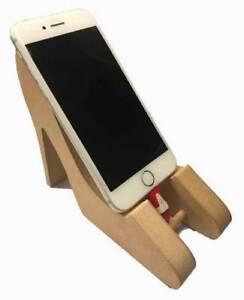 Zapatos De Mdf independiente de soporte para teléfono, forma de Artesanía Regalo en Blanco