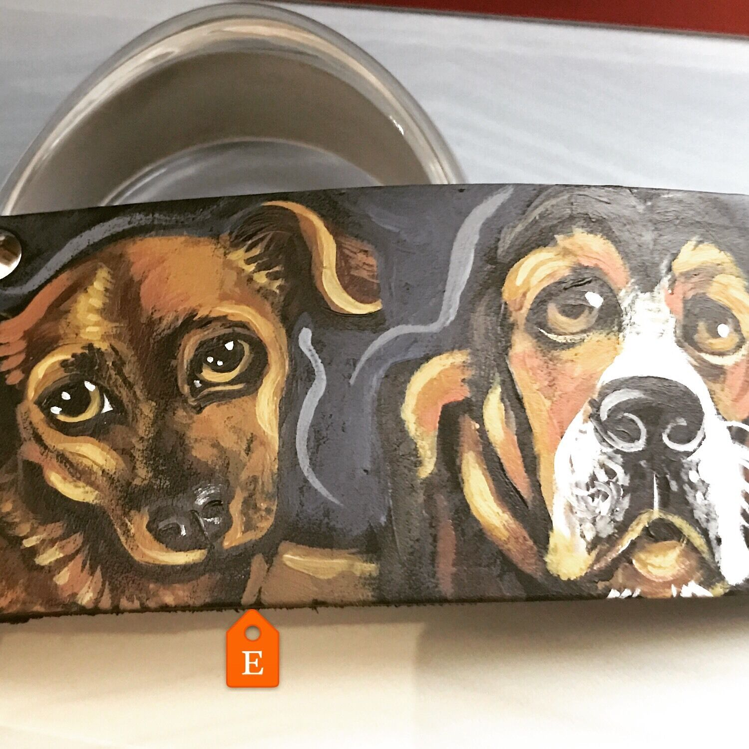 Tattoo Leather DOG collar Large Bigger Breed Dog Pet Pet Pet Portrait Collar 2 In Wide 5119e3