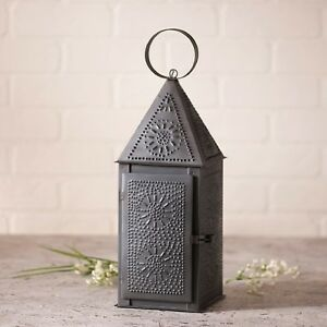 Square-Lantern-Taper-Candle-Primitive-Home-Decor-Irvin-039-s-Country-Tinware