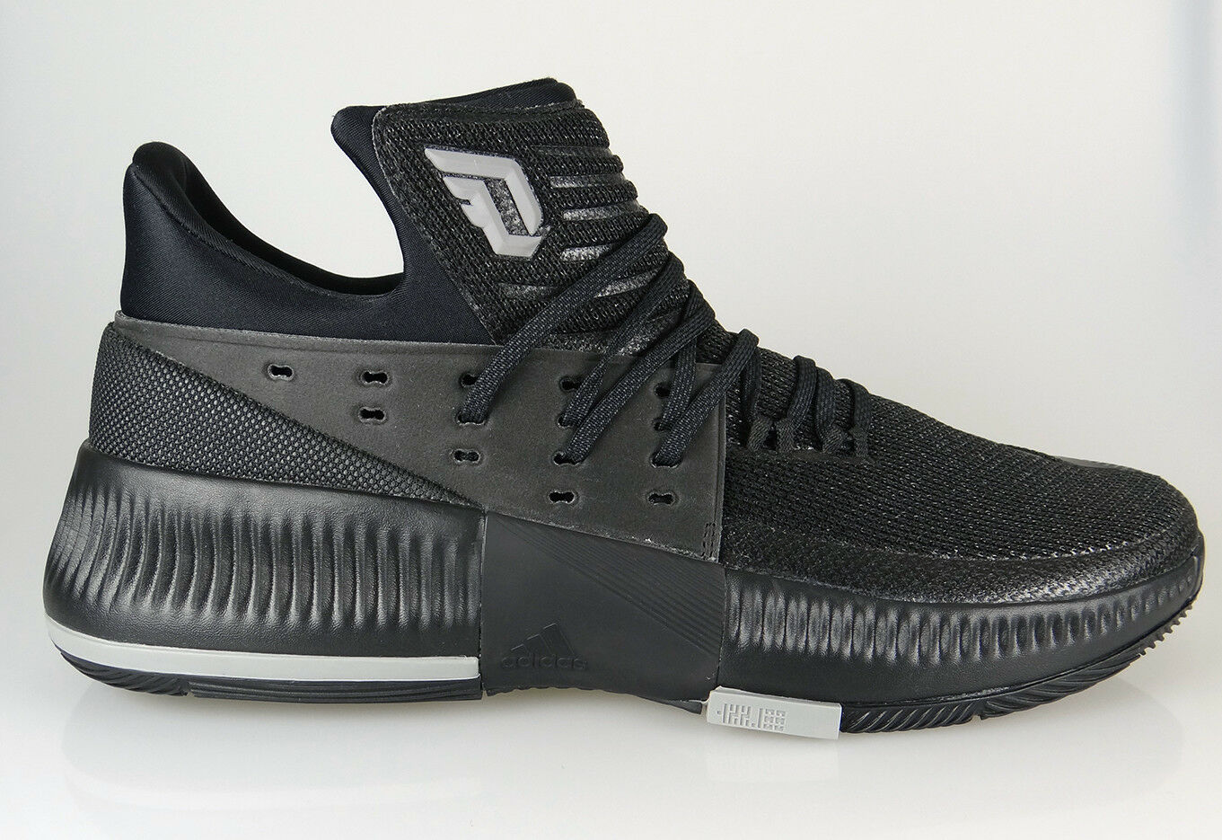 [BY3206] Mens Adidas Dame 3 Damian Lillard Basketball Sneaker - Black