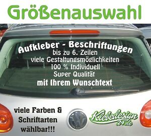 6-Zeilen-Aufkleber-Beschriftung-Groessenauswahl-Sticker-Heckscheibe-LkW-Auto-KfZ