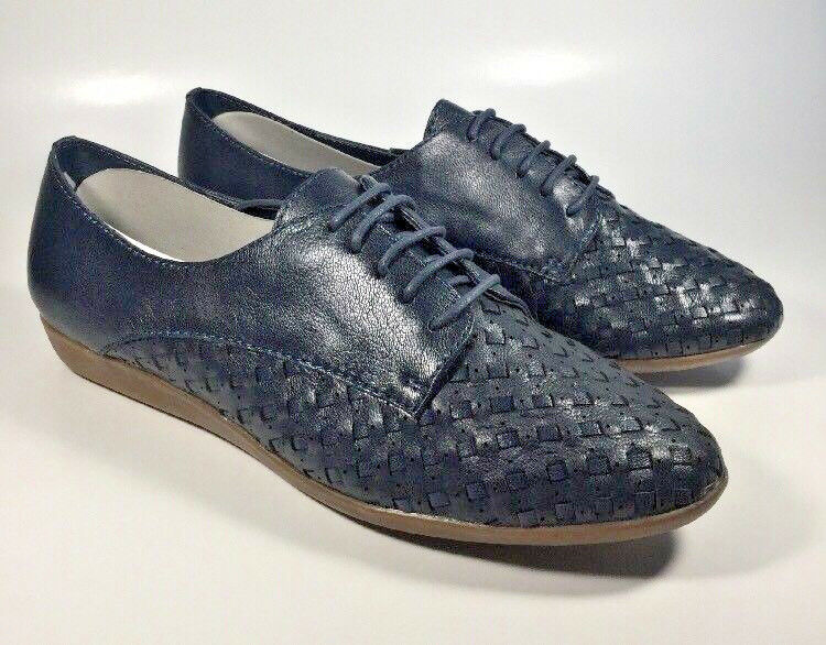 M2558 New Women's Bass and CO. Eddie Navy Oxfords Size 11 M