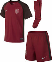 Nike United States Usa Season 2017 Boys / Girls Alternate Soccer Kit Red