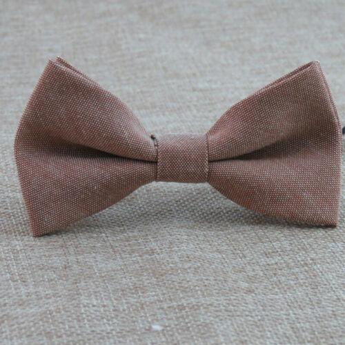 Adjustable Cotton Linen Bow Tie Classic Kids Boy Girl Fashion Candy Color Bowtie