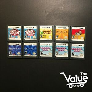 Lot-of-10-Nintendo-DS-Games-Book-Worm-Big-Brain-Academy-Brain-Age-2-amp-More