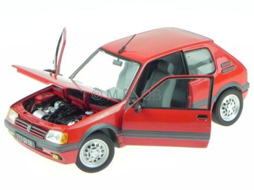 Peugeot 205 GTI 1.6 1988 vallelunga rot Modellauto 184853 Norev 1:18