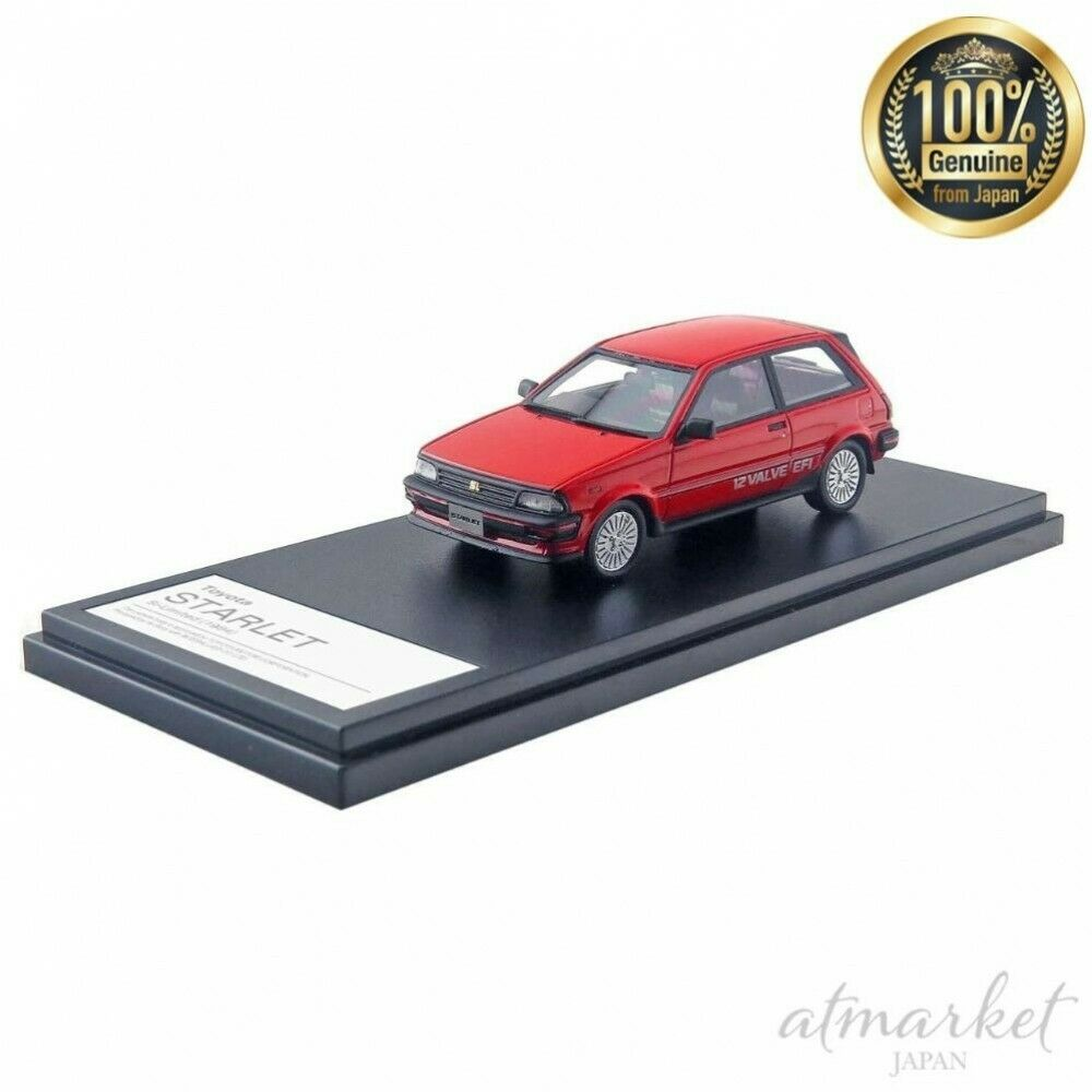 Hi Story 1 43 Mini Car Hs216re Toyota Starlet Si Limitiert 1984 Rot Fertig