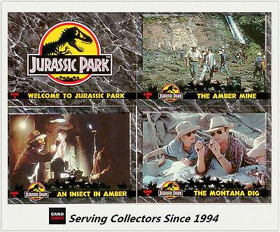 Australia Dynamic Jurassic Park Trading Cards Full Base Set (110 Cards)--MINT!!!